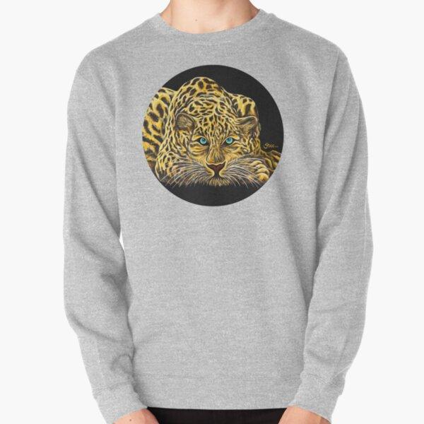 Leopard  - Shee Endangered Retro Animals Pullover Sweatshirt