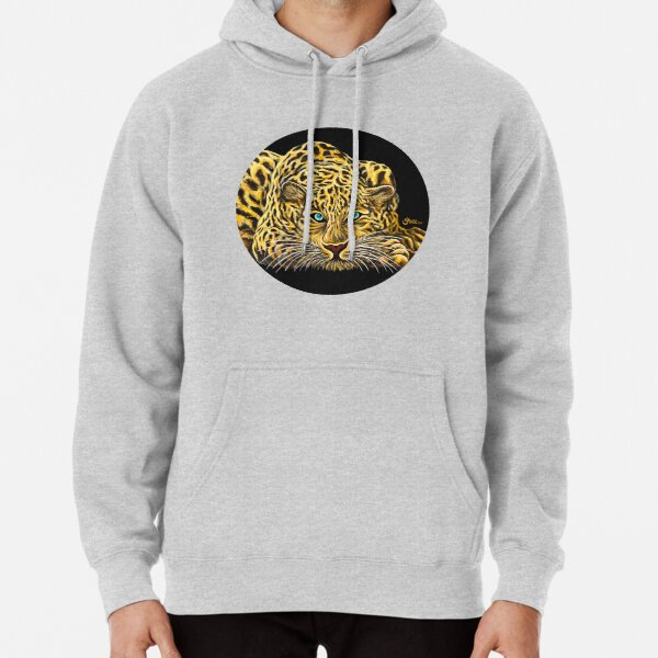Leopard  - Shee Endangered Retro Animals Pullover Hoodie