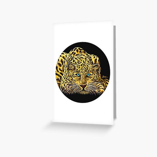 Leopard  - Shee Endangered Retro Animals Greeting Card