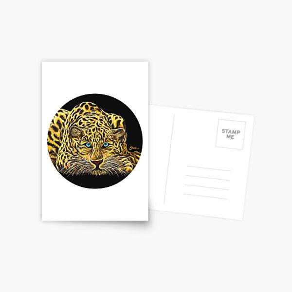 Leopard  - Shee Endangered Retro Animals Postcard