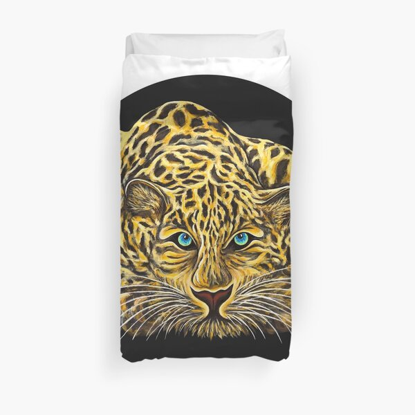 Leopard  - Shee Endangered Retro Animals Duvet Cover