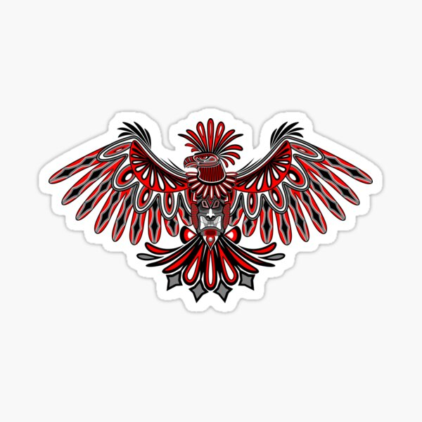Eagle Tattoo Style Haida Art Sticker