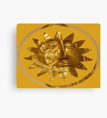 ancient greek golden mask Canvas Print