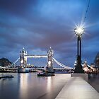 Tower Bridge Blues by JzaPhotography