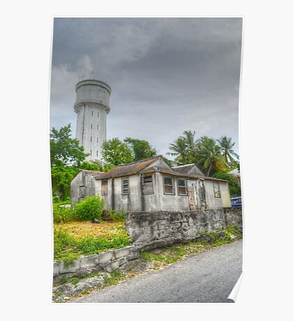 The Water Tower in Nassau, The Bahamas Poster