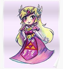 Wind Waker Zelda - Colored Pencil Poster