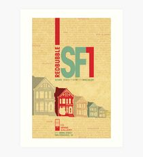RedBubble SF1 Poster Contest Entry Art Print