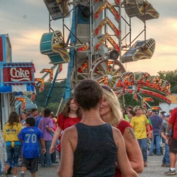 Kissing on the Midway by bhbphotos