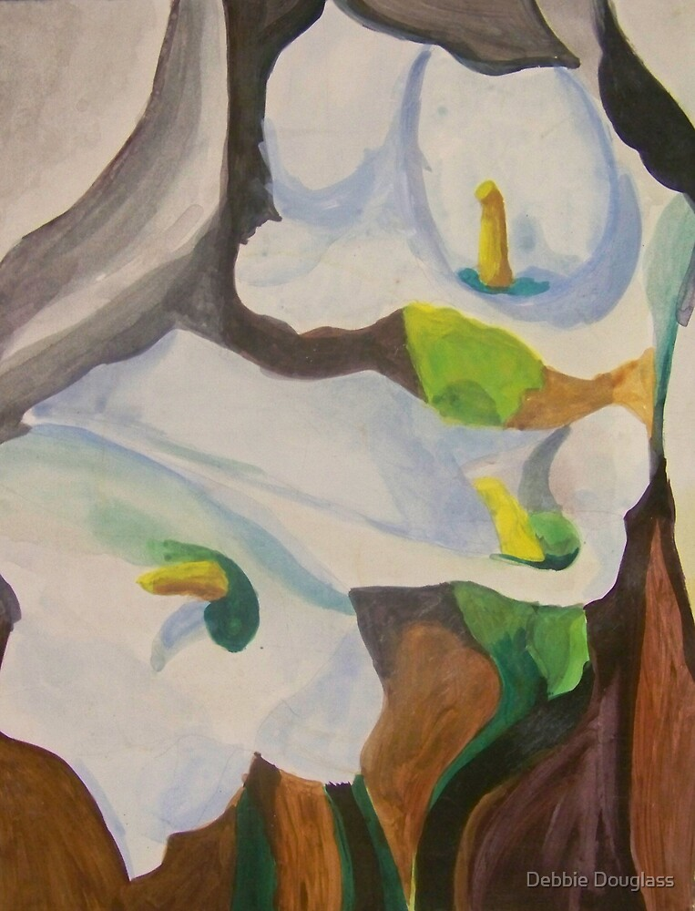 Reproduction of Georgia O'Keefe's Calla Lilies by Debbie Douglass