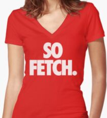 FETCH. Women's Fitted V-Neck T-Shirt