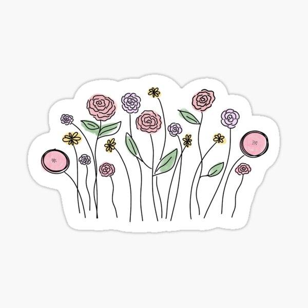 Wildflower Illustration Sticker