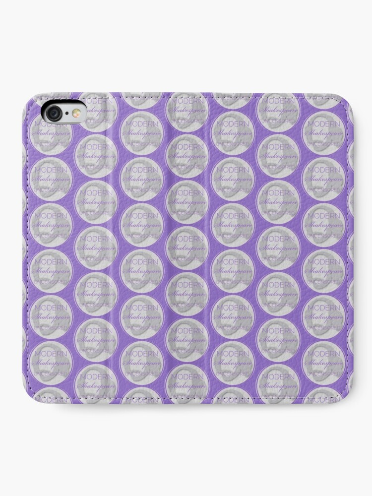 Alternate view of Circle Logo for Modern Shakespeare Uncensored iPhone Wallet
