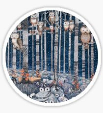 Owl Forest Sticker