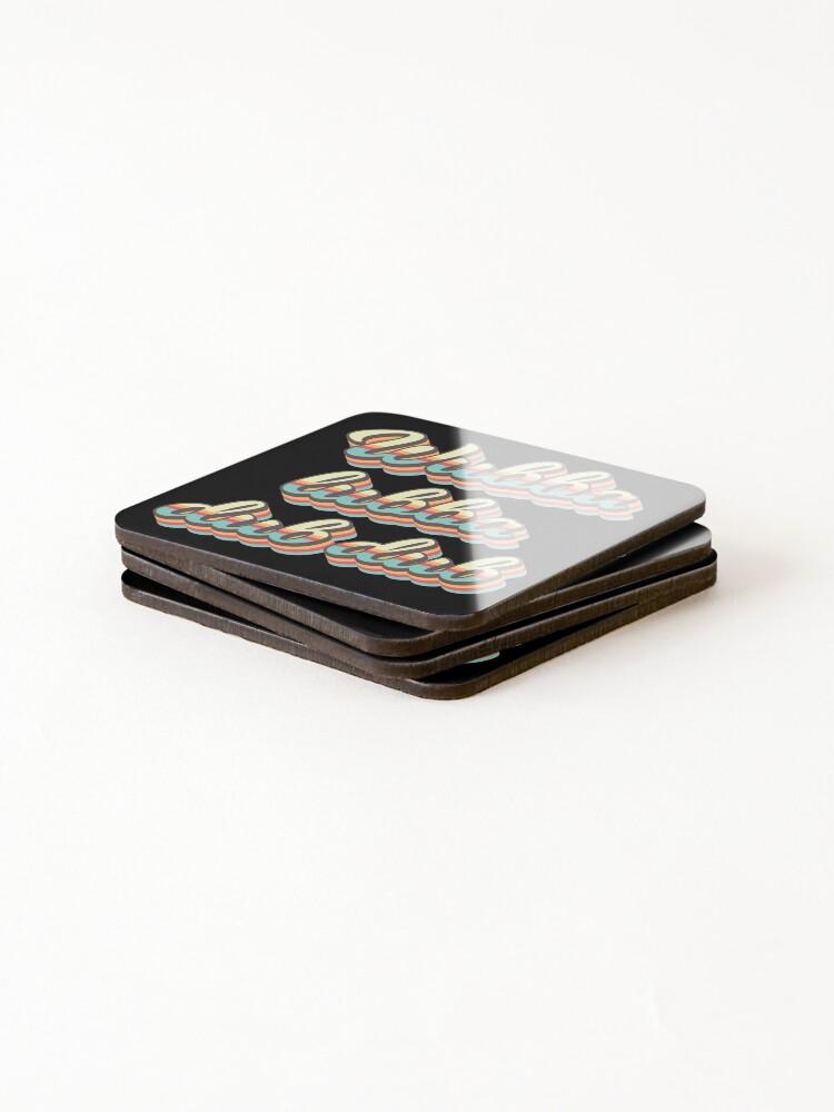 Alternate view of Wubba lubba dub dub - 70's Retro Style Coasters (Set of 4)
