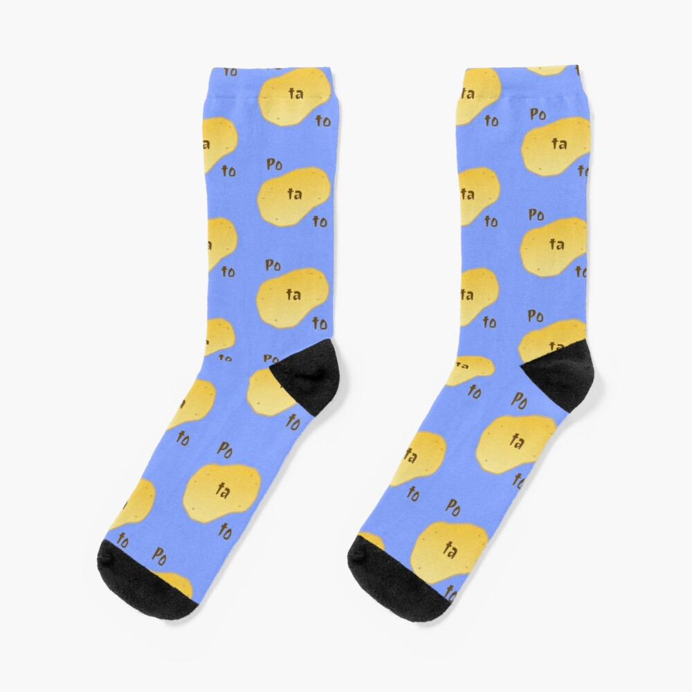 Customized Funny potato Barber Socks Mens Womens Socks Unique Casual Crew Socks