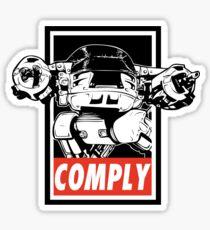 Obey ED-209 Sticker