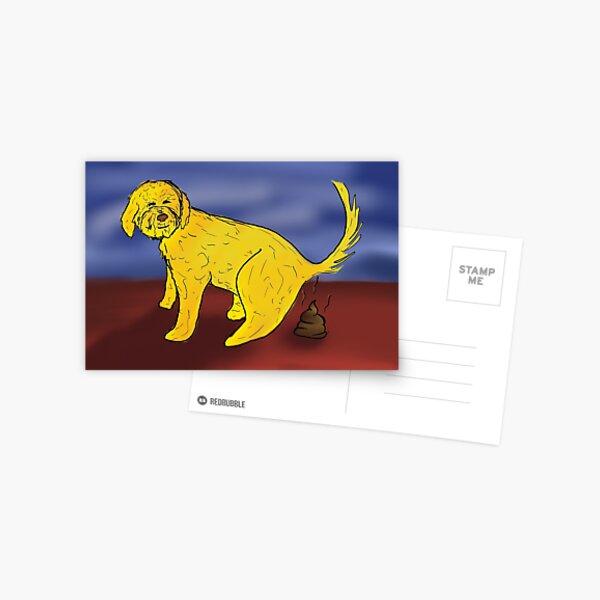 Pooping Dog Postcard