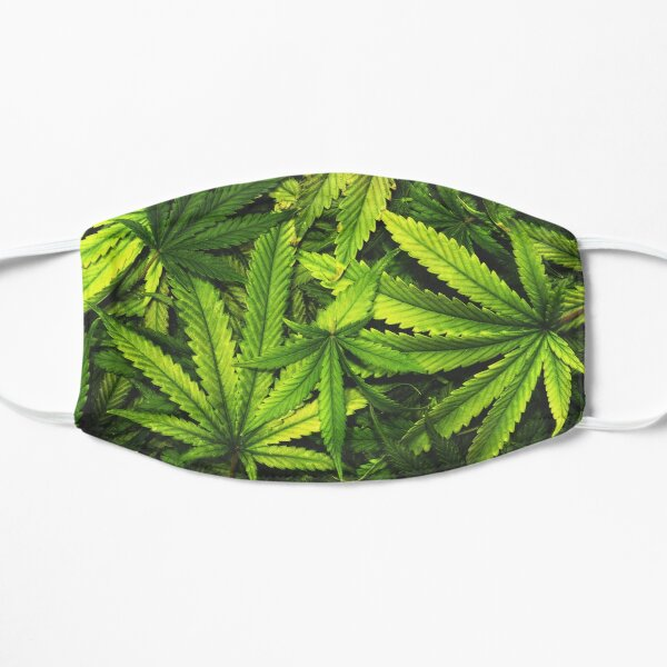 Cannabis Face Mask Flat Mask