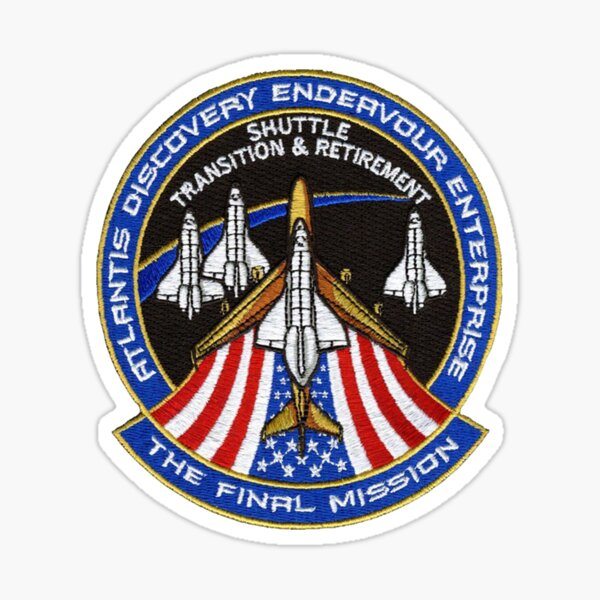 The Final Mission - Shuttle Transition and Retirement Patch Sticker