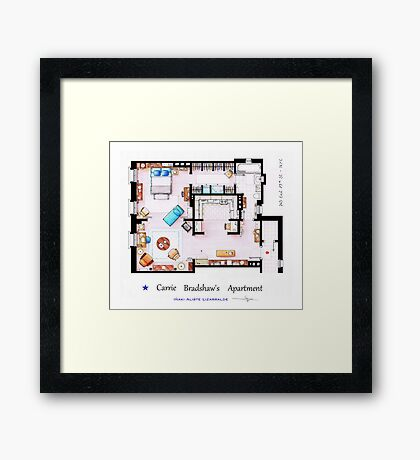 Sex & The City Apartment Framed Print
