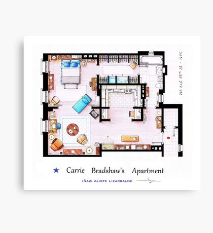 Sex & The City Apartment Canvas Print