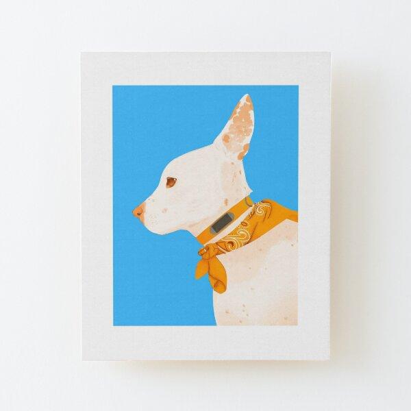 Dog Wood Mounted Print