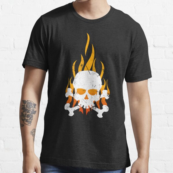 Skull with flames Essential T-Shirt