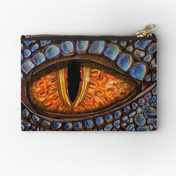 Dragon Eye Blue Dragon Zipper Pouch
