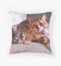 """Sophie & Ginger"" Close Up Throw Pillow"