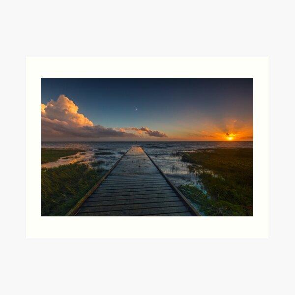 Lytham Jetty Sunset Art Print