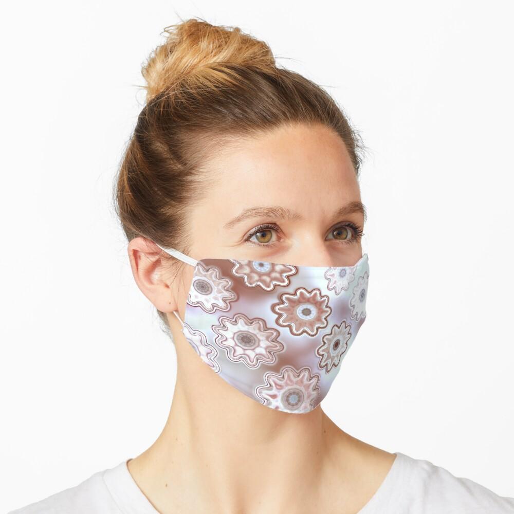 Grandma's Secret Stash - Cordovan and White Floral Pattern Mask