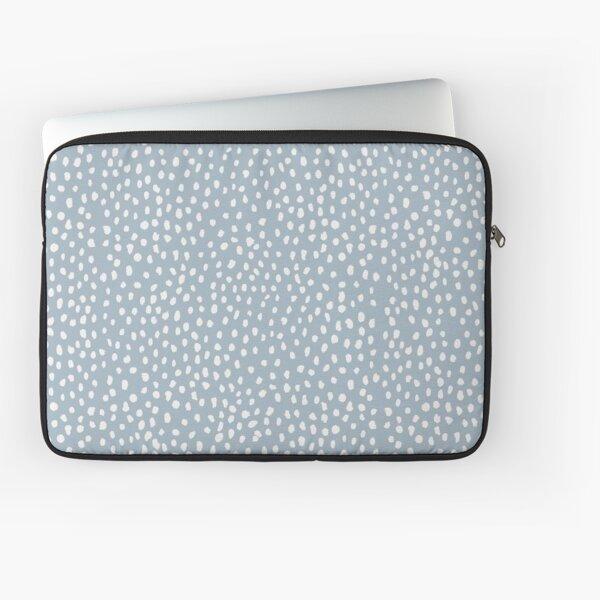 Blue Dalmatian Print Laptop Sleeve