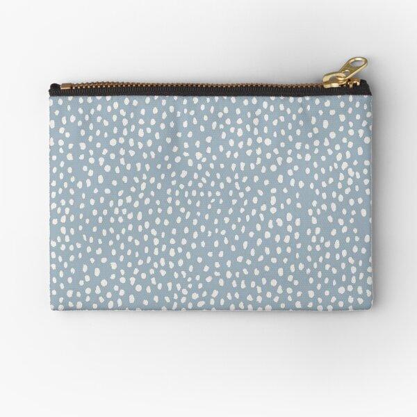 Blue Dalmatian Print Zipper Pouch
