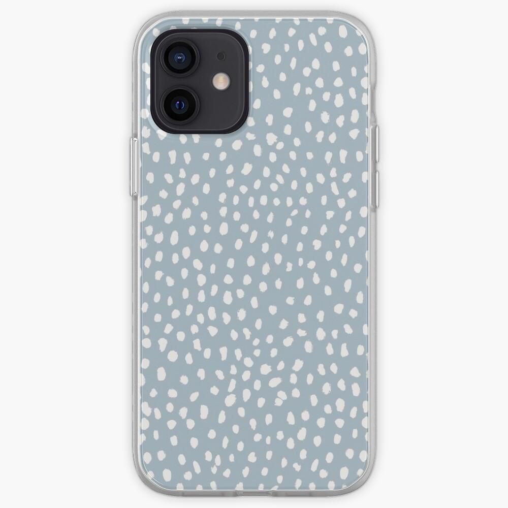 Blue Dalmatian Print iPhone Case & Cover