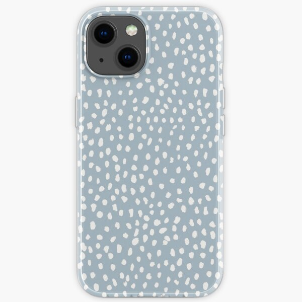 Blue Dalmatian Print iPhone Soft Case