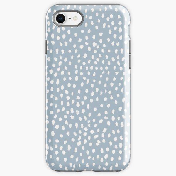 Blue Dalmatian Print iPhone Tough Case