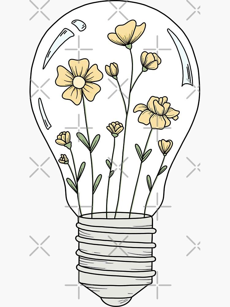 Glühbirne mit gelben Blumen von jamiemaher15
