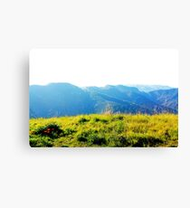 On Top of the World Mountains Canvas Print