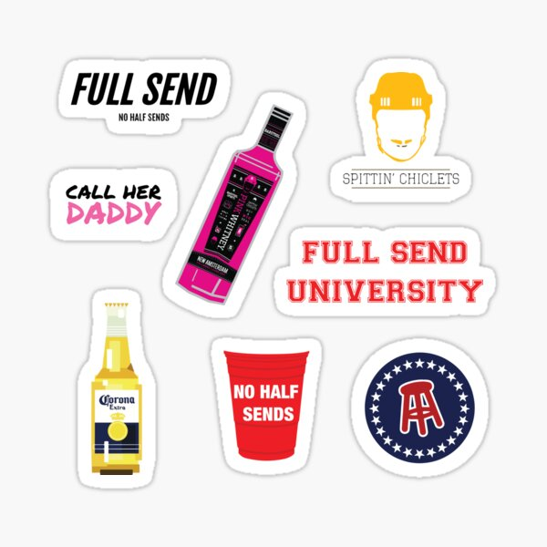 Full Send Barstool Sports Sticker Pack Sticker