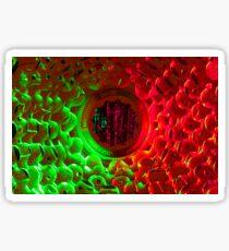 Green Red bike cassette Sticker