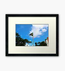 Brazil Flag Framed Print