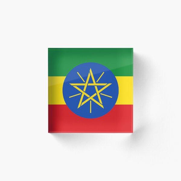 Ethiopian Flag Collection Acrylic Block