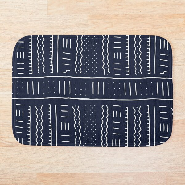 African pattern 2 Blue Bath Mat