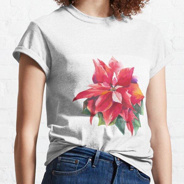 Bright Red Poinsettia Classic T-Shirt