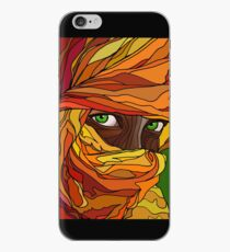 Cloaked girl iPhone Case