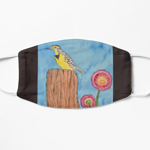 Meadowlark on a Fence Post Mask