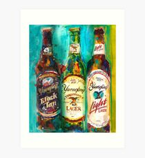 Yuengling Beer - Black and White, Lager and Light Beer Art Print