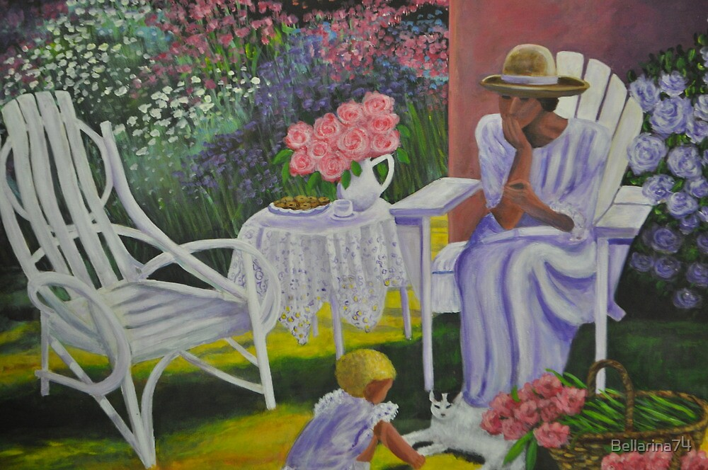 Lady and Child in Lavender by Bellarina74