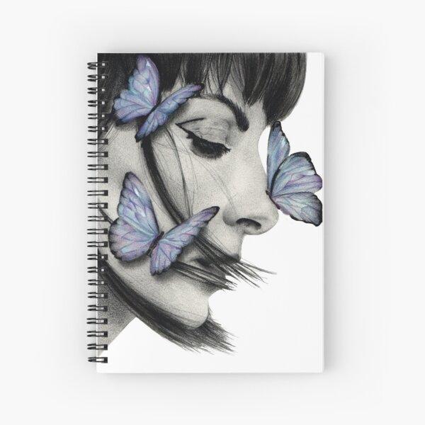 dibujo de Najwa Nimri con mariposas Cuaderno de espiral