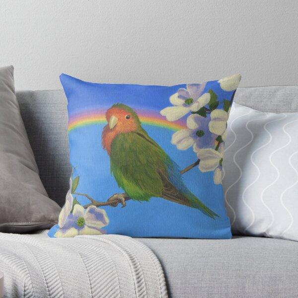 Melocotón Enfrentado Rainbow - Lovebird Cojín